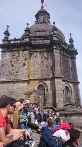 Ant katedros stogo